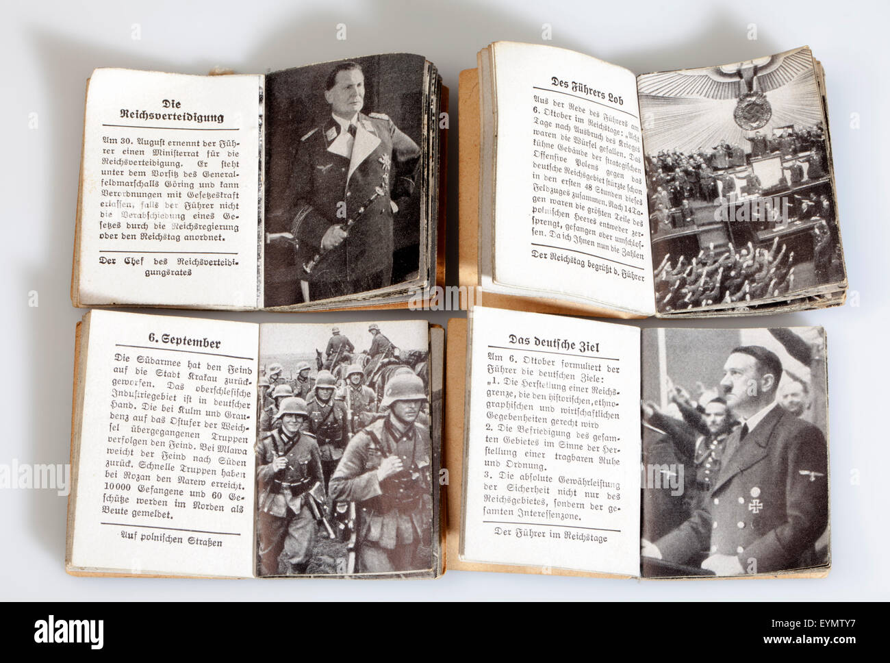 Nazi Third Reich propaganda, magazines of Winterhilfswerk or Winter Relief of the German Peoples, 1939, - Stock Image