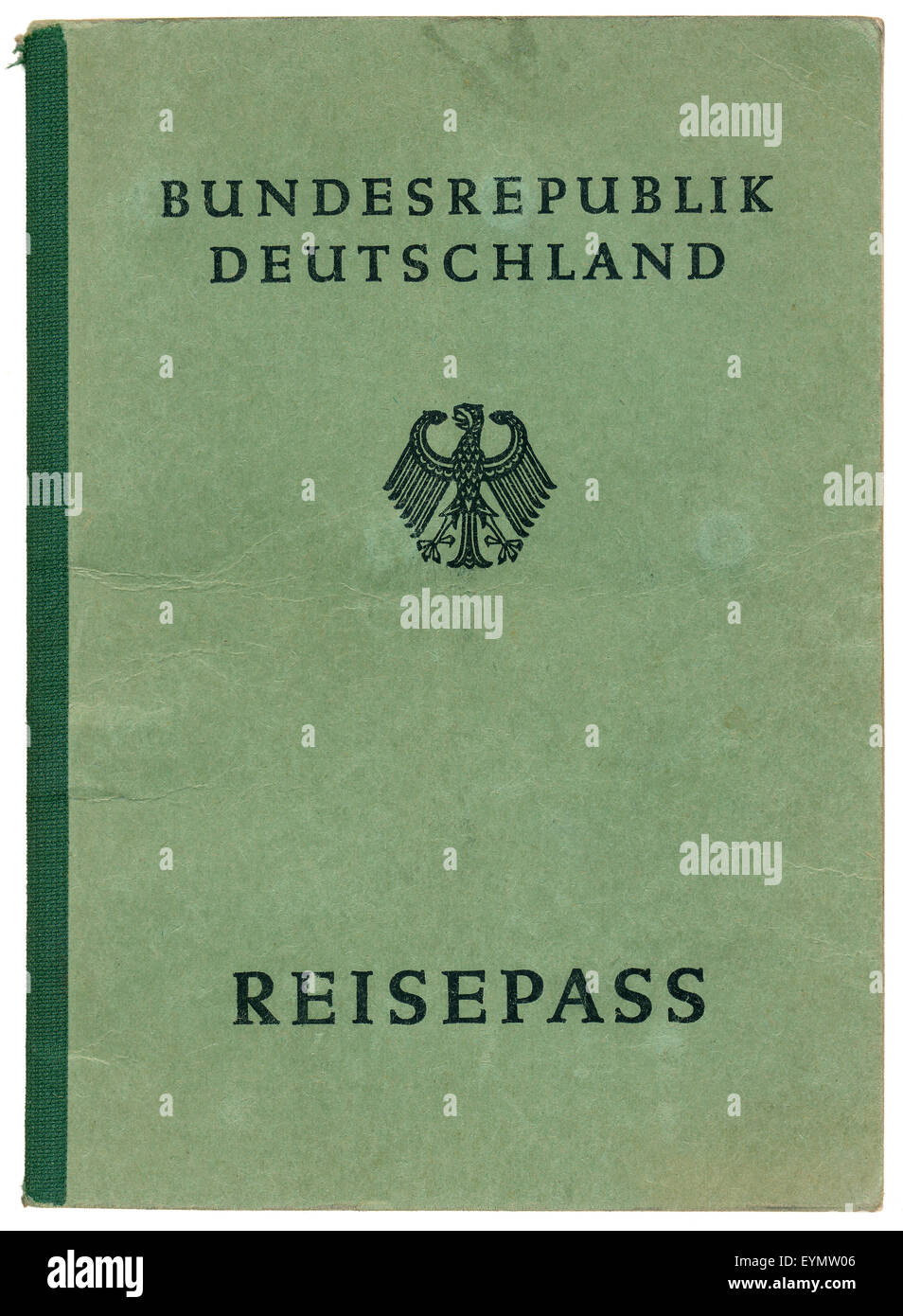 Old German passport, c. 1956, Germany, Europe Stock Photo