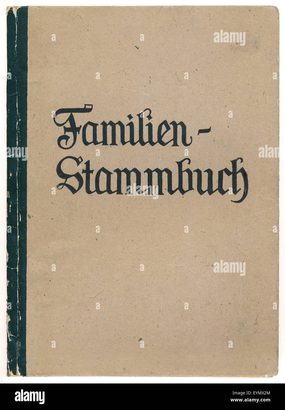 A German family register, 1948, Germany, Europe - Stock Image