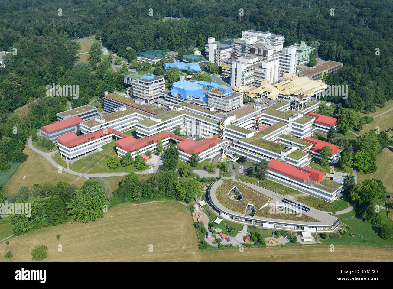 UNIVERSITY OF KONSTANZ (aerial view). Konstanz, Baden-Wurttemberg, Germany. - Stock Image
