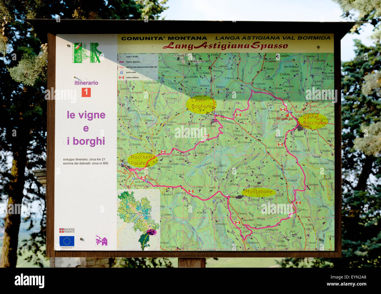 Langhe Italy Map.Monferrato Piedmont Italy Map Of Panorama Vineyards Of Piedmont