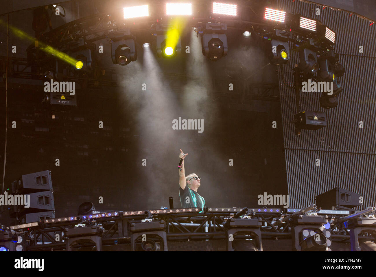 Chicago, Illinois, USA. 31st July, 2015. DJ SNAKE performs live in Grant Park at the Lollapalooza Music Festival - Stock Image
