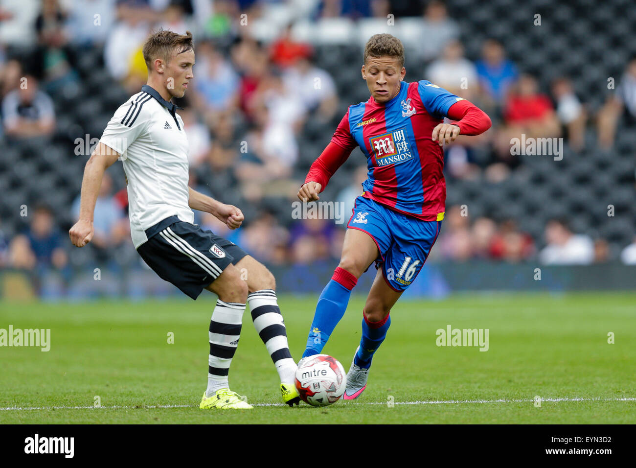 London, UK. 01st Aug, 2015. Pre Season Friendly. Fulham versus Crystal Palace. Crystal Palace's Dwight Gayle - Stock Image