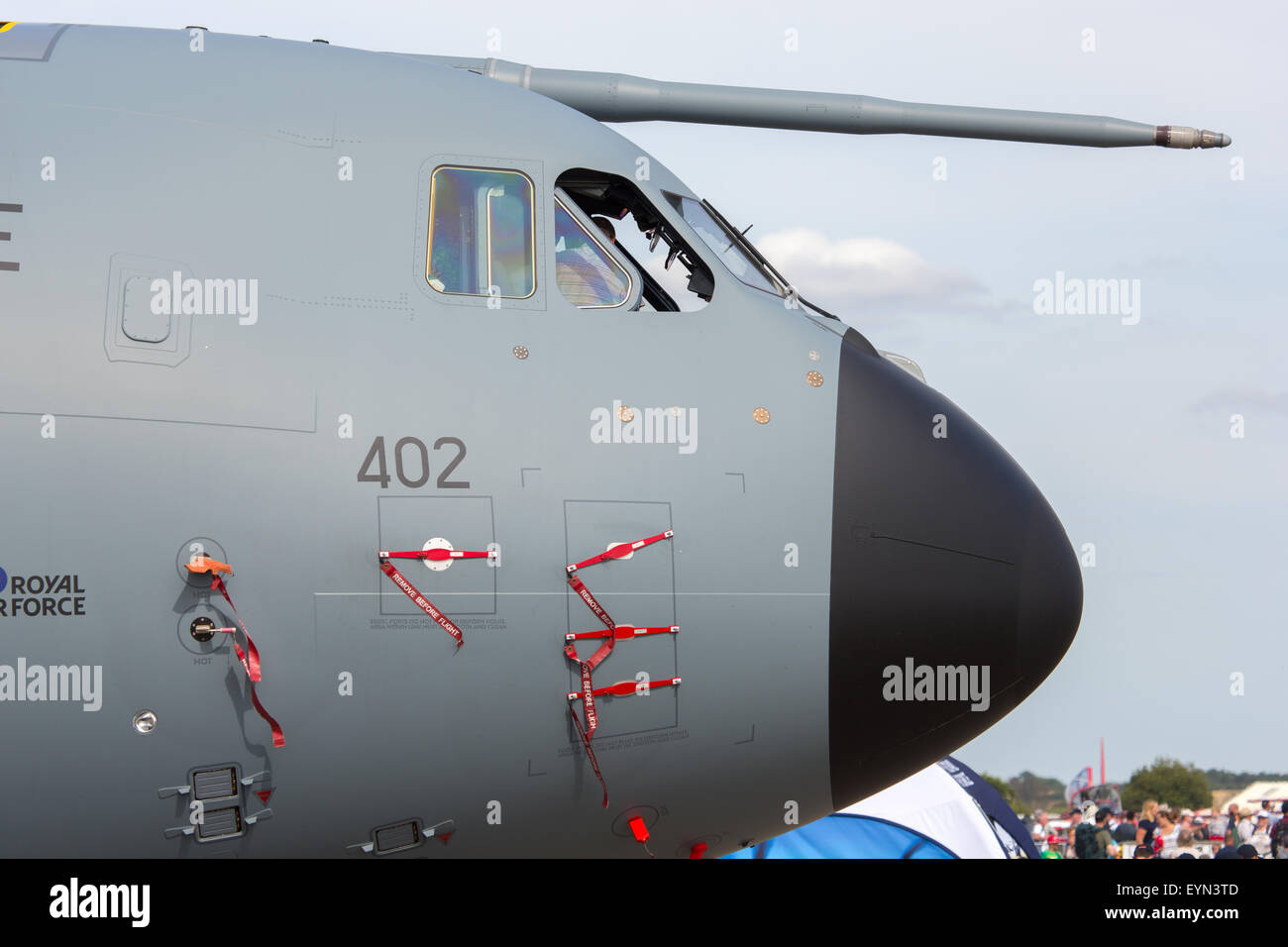 The Airbus A400 Atlas at the Royal International Air Tattoo at RAF Fairford. The RAF transport plane was open to - Stock Image
