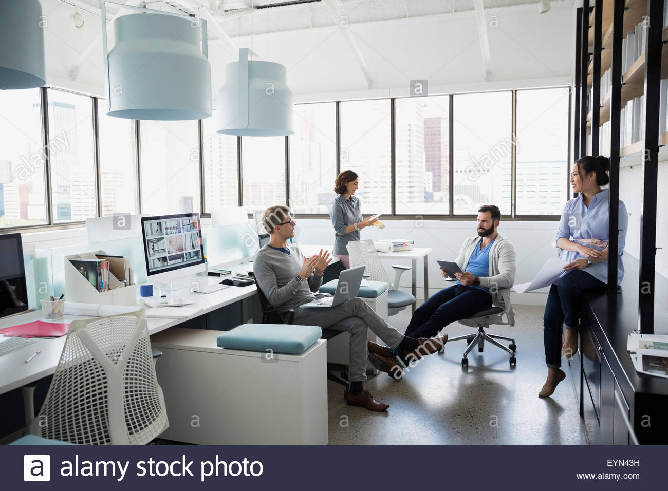 Architects meting in office - Stock Image