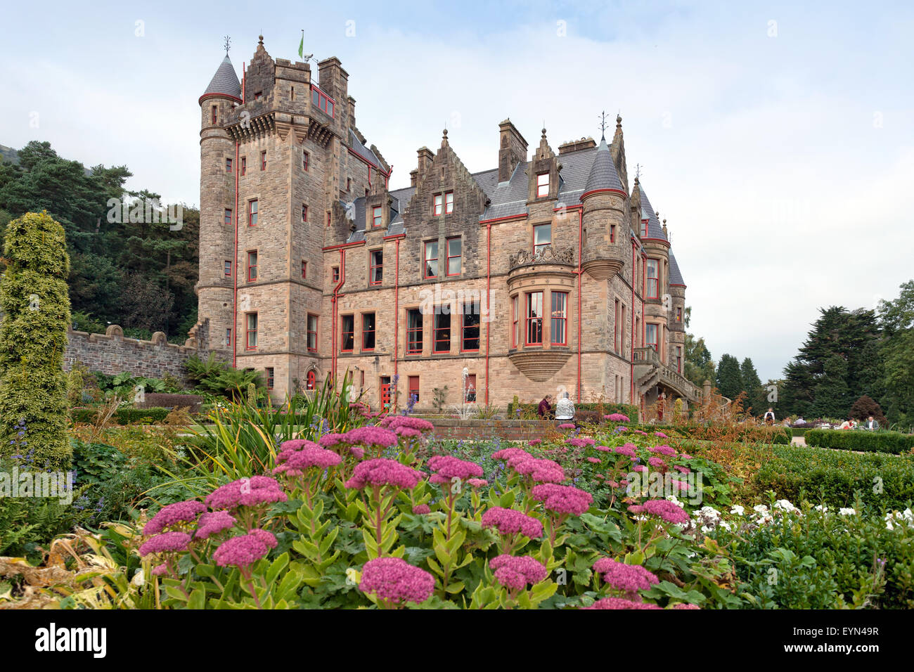 Belfast castle and its gardens - Stock Image