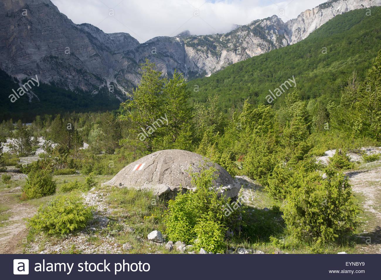 bunker, Prokletije Mountains, Albania - Stock Image