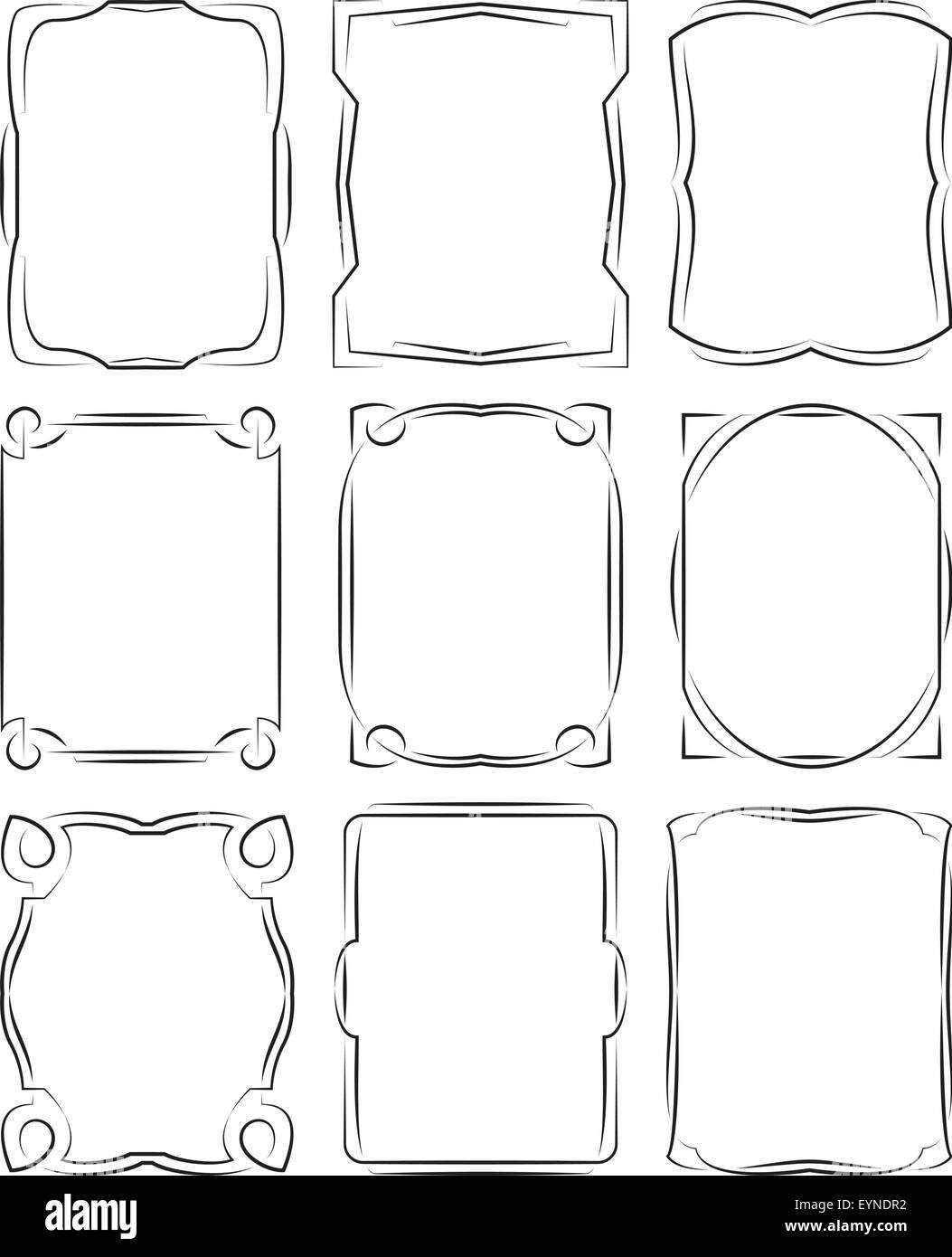 set of frames design elements  Editable vector illustrator