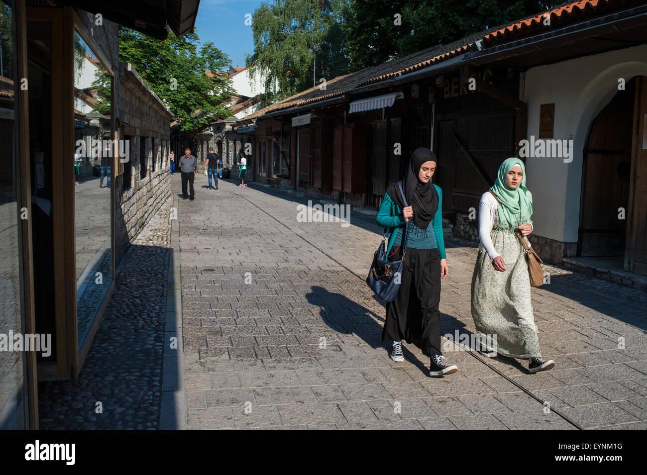 Sarači Street, Sarajevo, Bosnia and Erzegovina - Stock Image