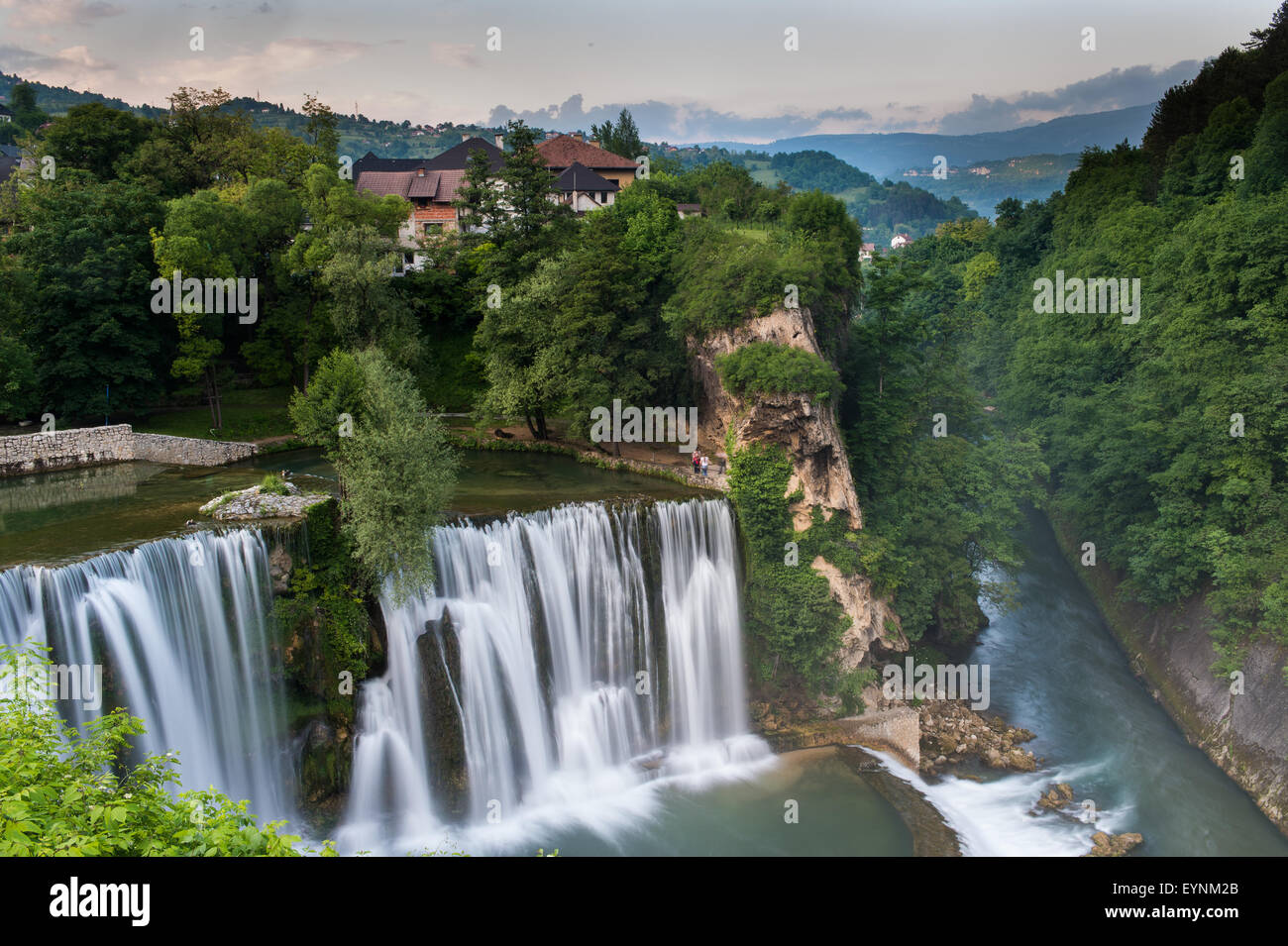 Jaice waterfall, Pliva river, Bosnia and Erzegovina - Stock Image