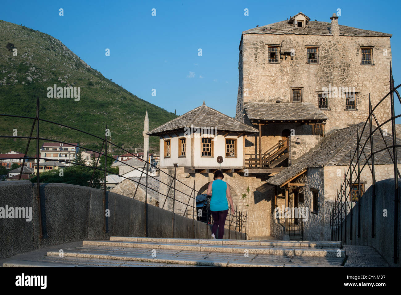 Stari Most (Old Bridege), Mostar, Bosnia and Erzegovina - Stock Image