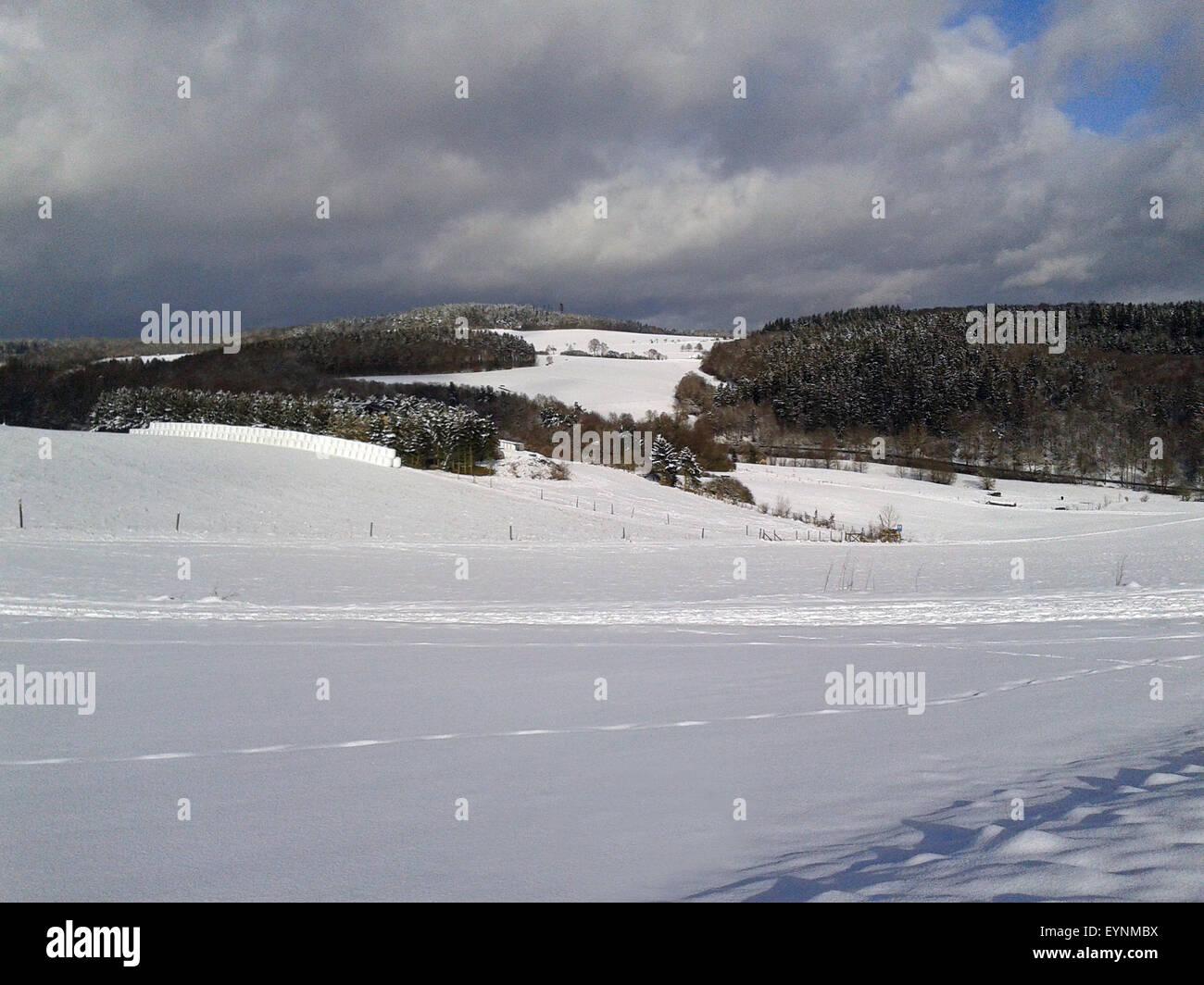 Winterlandschaft, taunus Stock Photo
