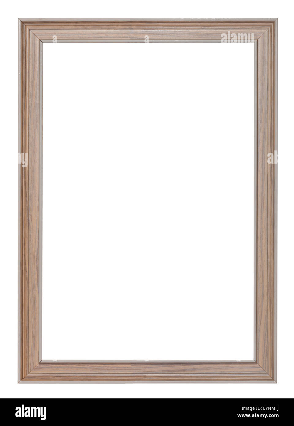 vertical modern painted wooden picture frame with cut out blank ...