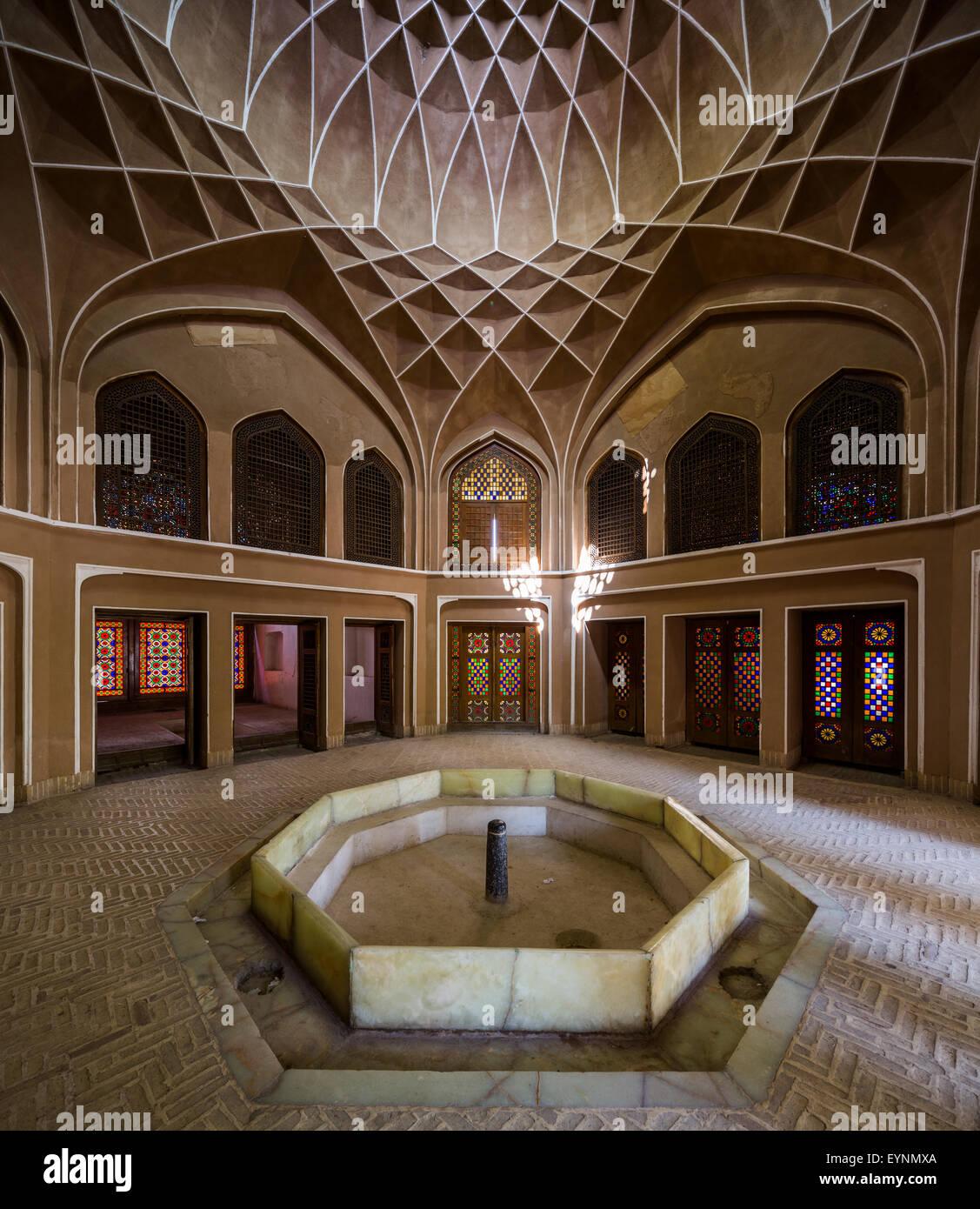 vaulting in pavilion, Dawlatabad Garden, Yazd, Iran - Stock Image