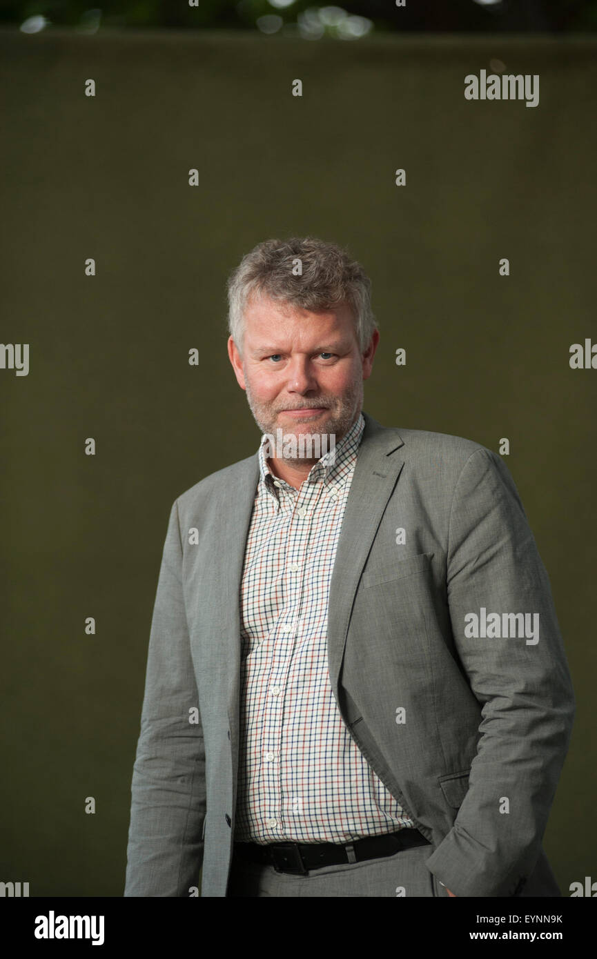 Swedish novelist, Arne Dahl, appearing at the Edinburgh International Book Festival. Stock Photo