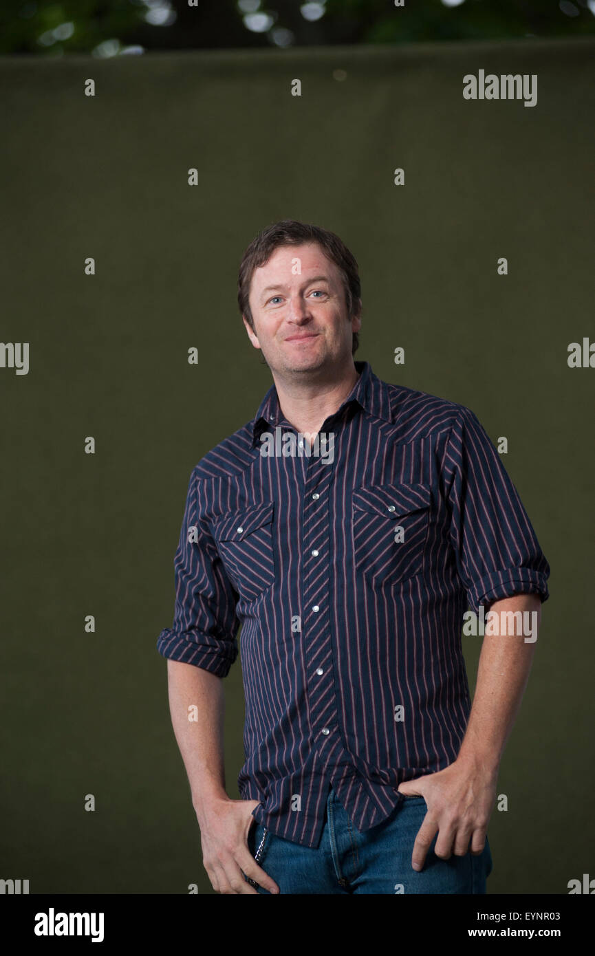 American author and the lead singer and songwriter, Willy Vlautin, appearing at the Edinburgh International Book - Stock Image