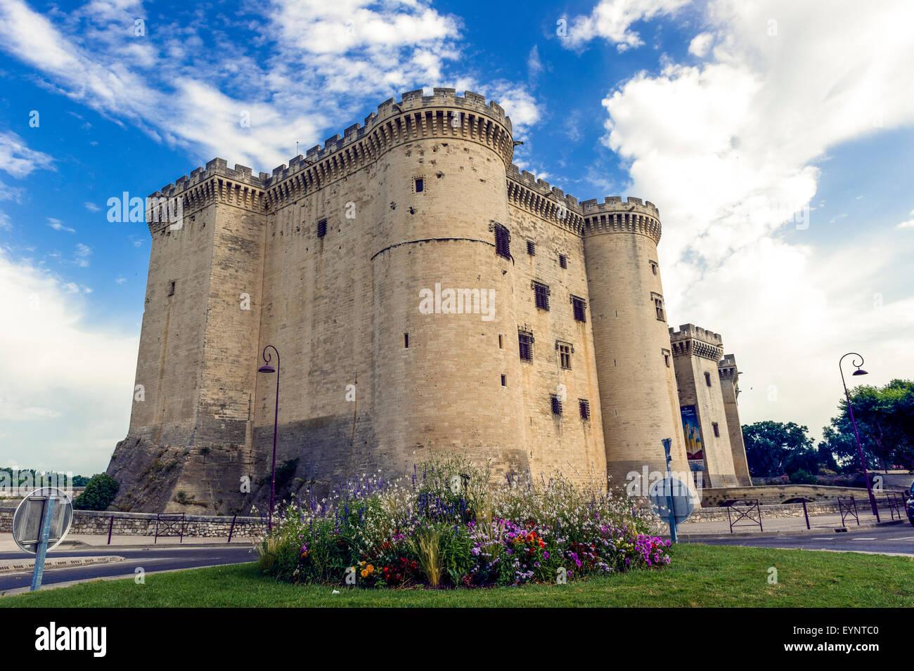 Europe. France. Bouches-du-Rhone. Alpilles. Tarascon. The medieval castle of King René, fifteenth century. - Stock Image