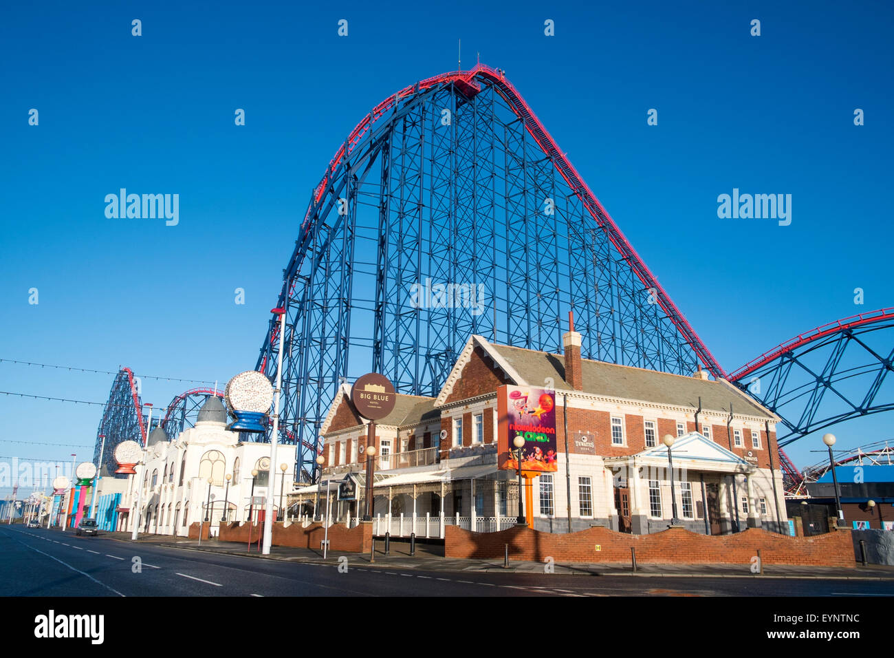 big dipper big one thrill ride at Blackpool pleasure beach holiday resort, lancashire,england - Stock Image