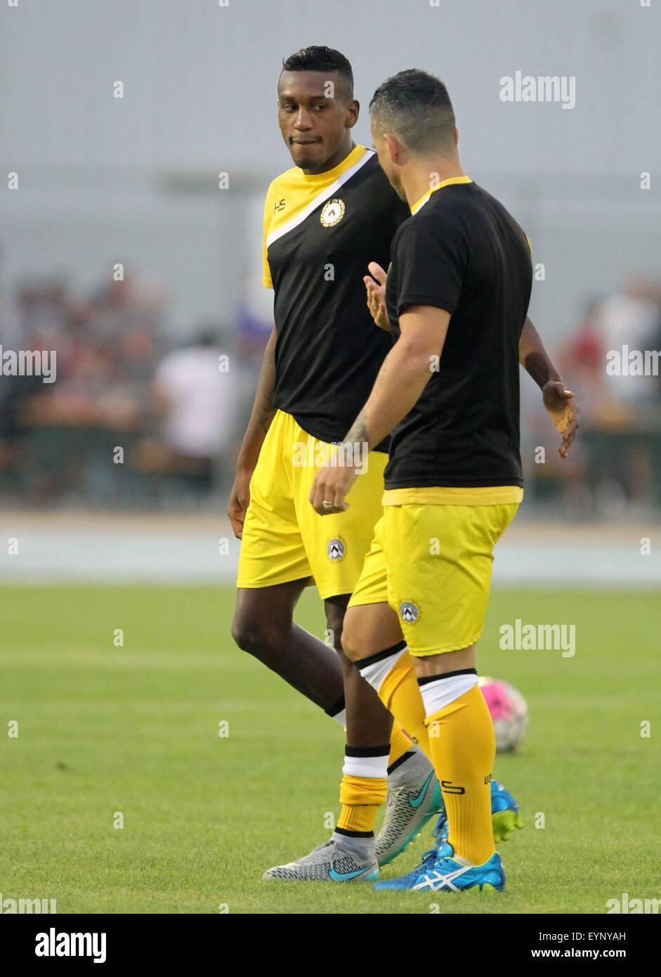 ITALY, Lignano: during the friendly pre-season football match Udinese Calcio v SC Bastia on 1st August, 2015 at Stock Photo
