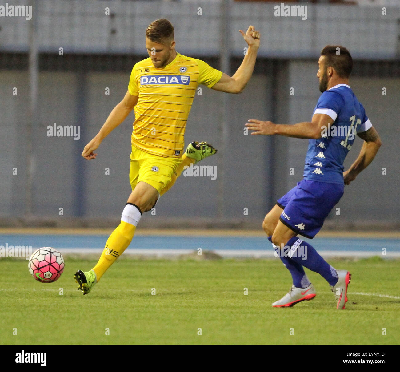 ITALY, Lignano: Udinese's midfielder Silvan Widmer during the friendly pre-season football match Udinese Calcio - Stock Image