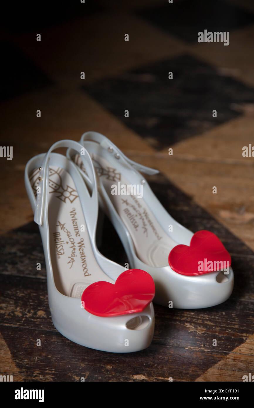 Wedding shoes - Stock Image