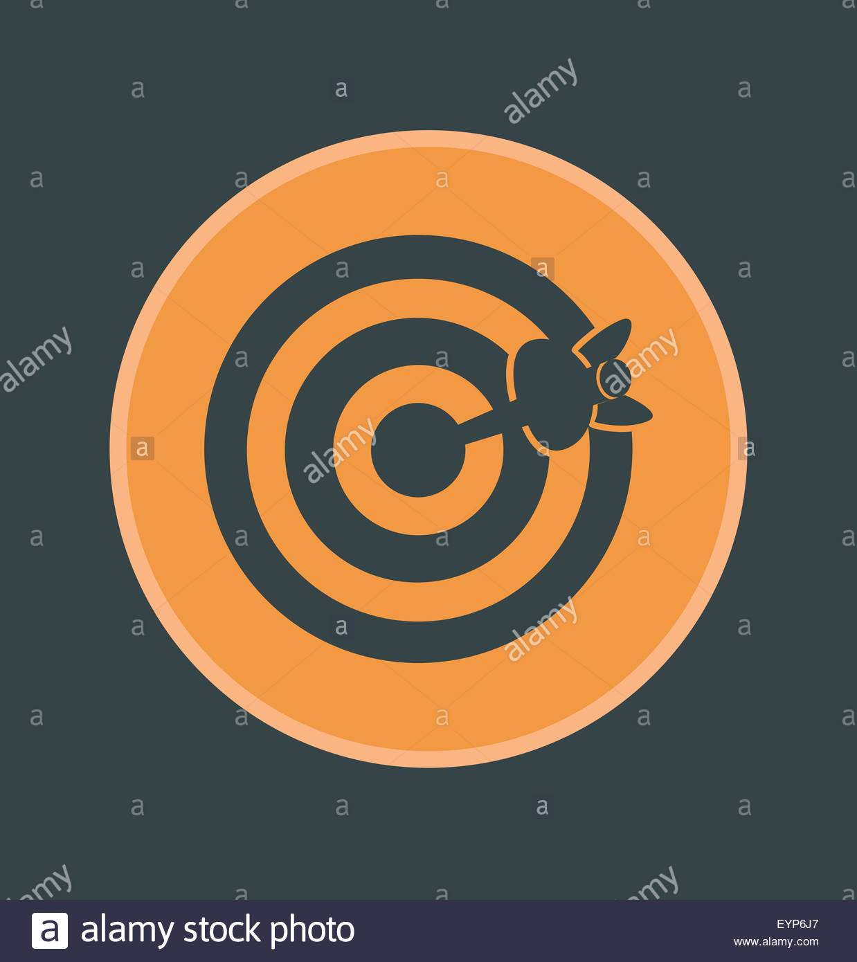 Vector illustration of accuracy icon, flat round icon - Stock Image