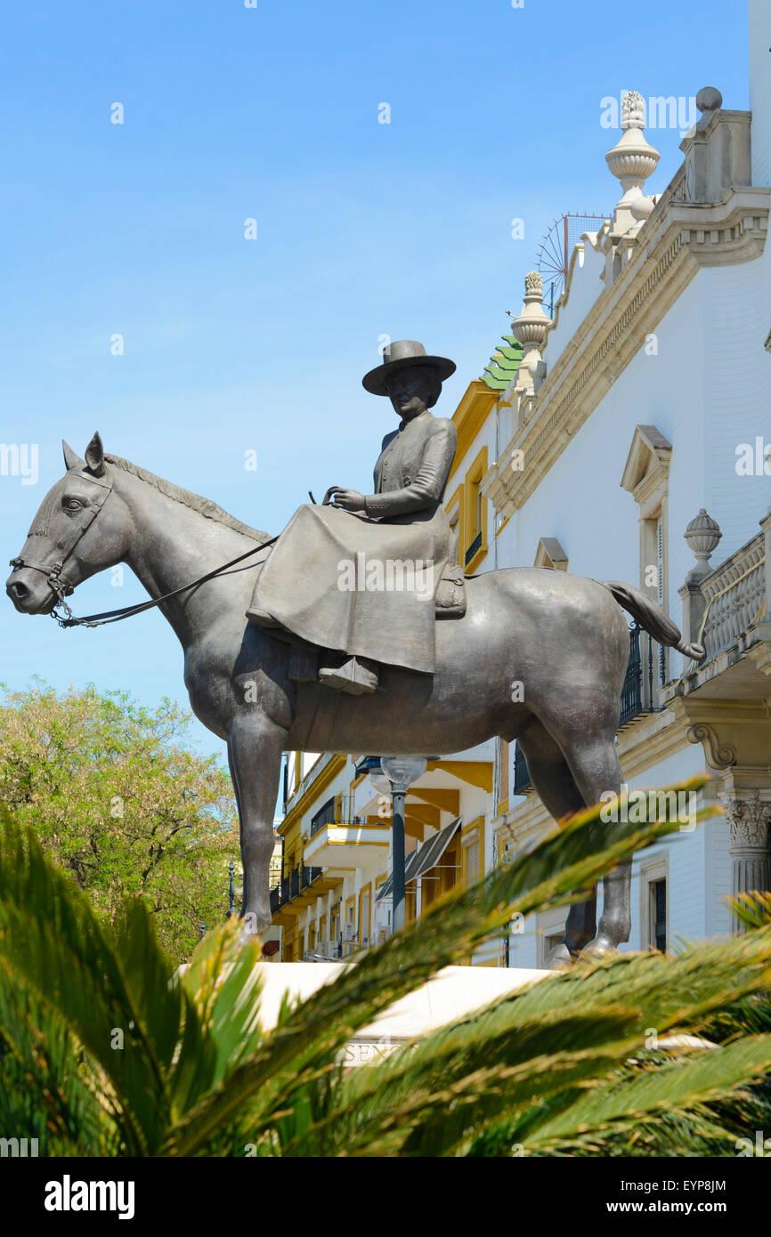 Plaza de toros de la Real Maestranza de Caballería de Sevilla in Seville, Spain - Stock Image