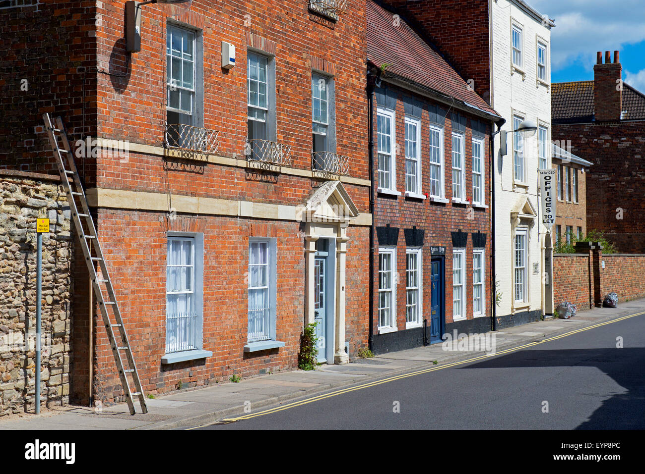 Offices to let: Georgian architecture in Taunton, Somerset, England UK - Stock Image