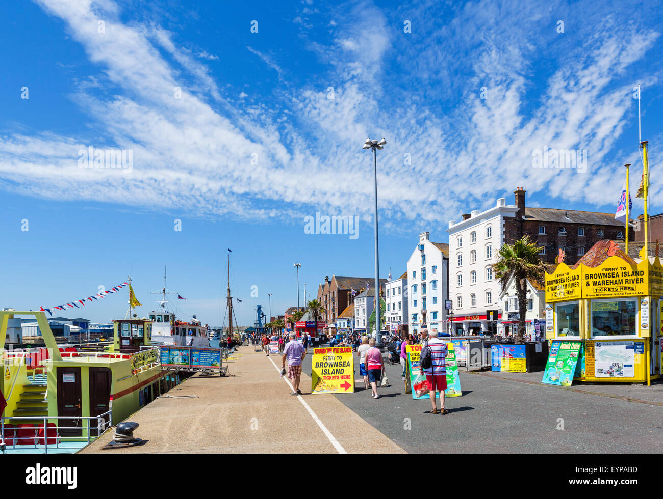 The Quay in Poole, Dorset, England, UK - Stock Image