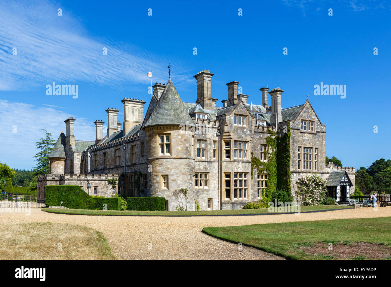 Beaulieu Palace House, home of the Barons Montagu, Beaulieu, Hampshire, England UK - Stock Image