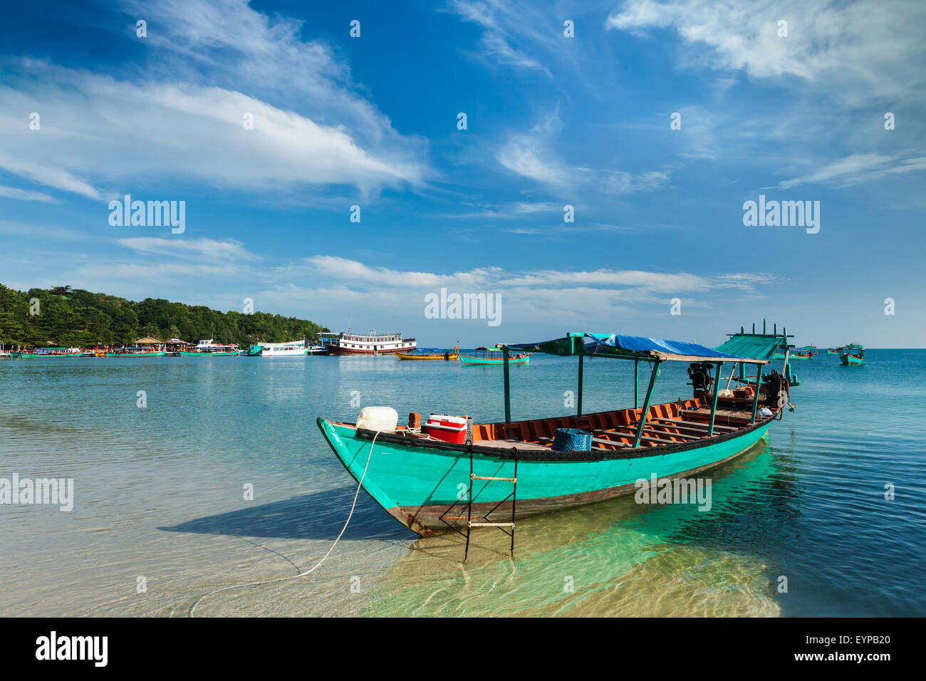 Boats in Sihanoukville - Stock Image