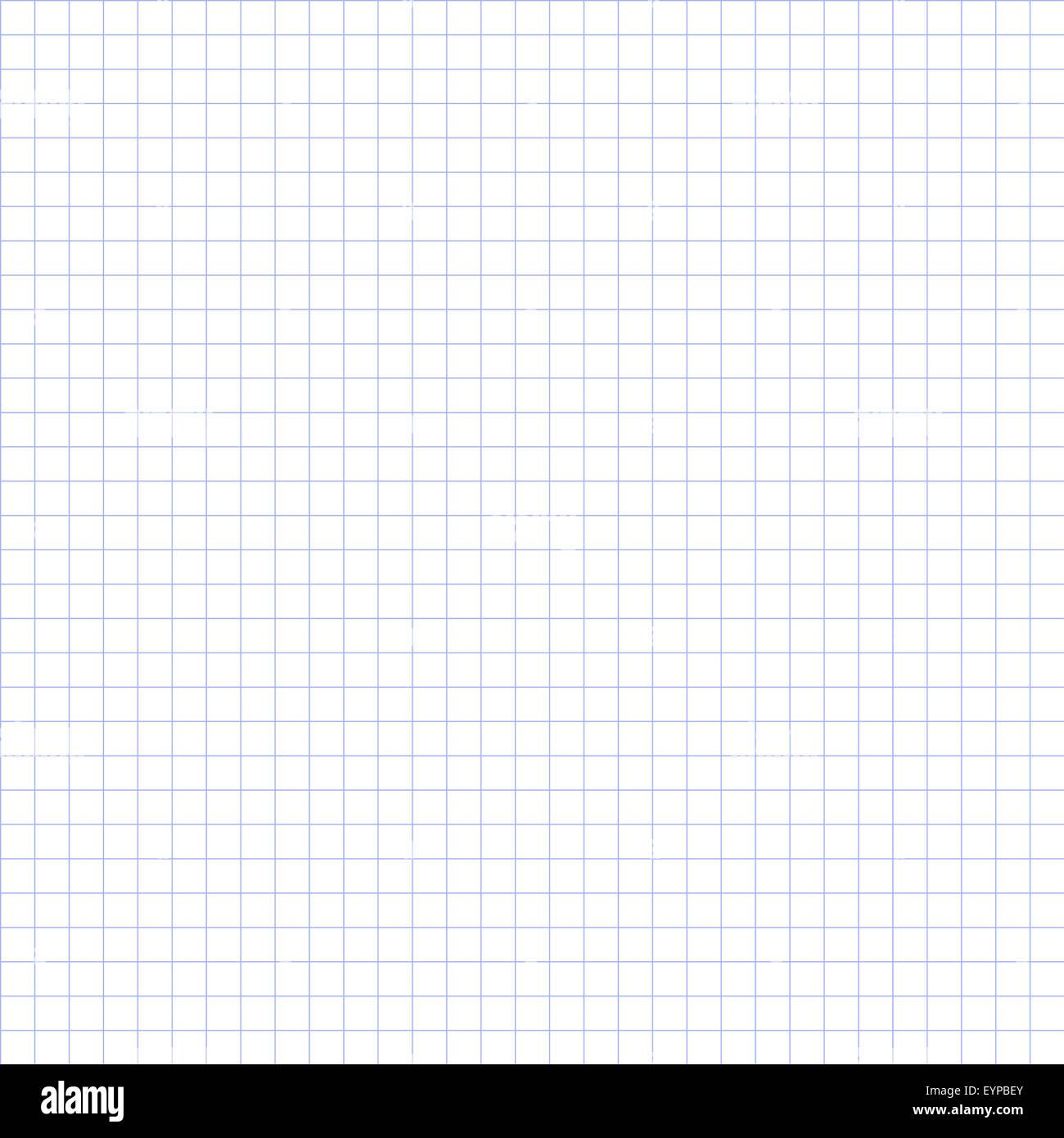 Grid paper, basic squares. Blue. - Stock Image