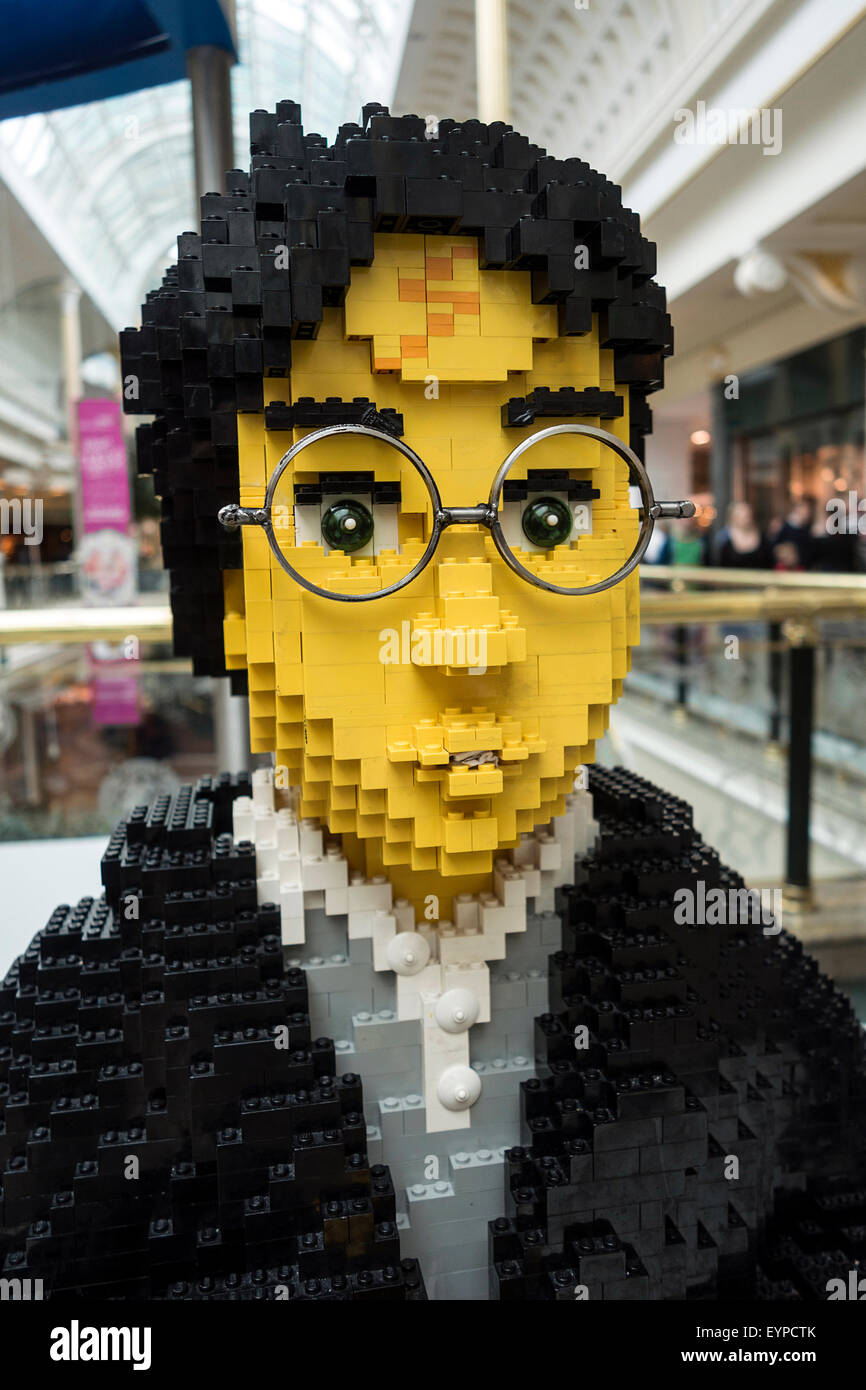 A Lego model of Harry Potter in the Trafford Centre, Manchester, UK - Stock Image