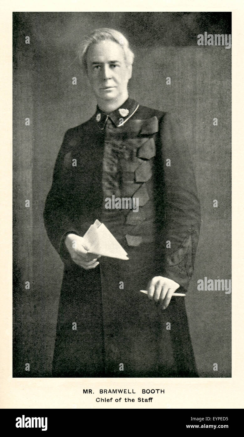 Bramwell Booth, 1908 portrait of the Chief of Staff and then second General of the Salvation Army,  son of the founder - Stock Image