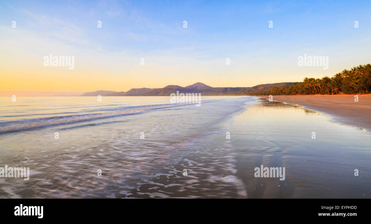 Four Mile Beach at sunrise. Port Douglas, Queensland, Australia - Stock Image