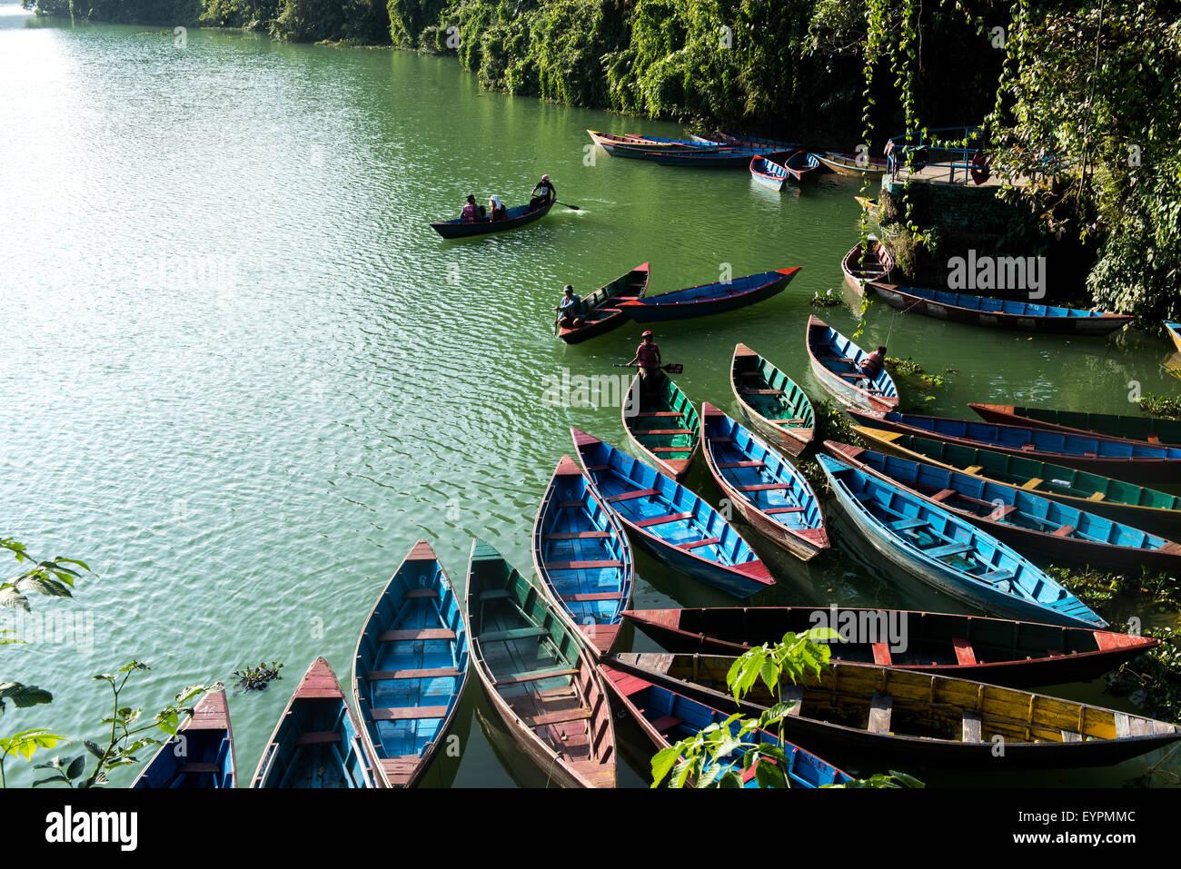 Lake Pokhara, Nepal - Stock Image