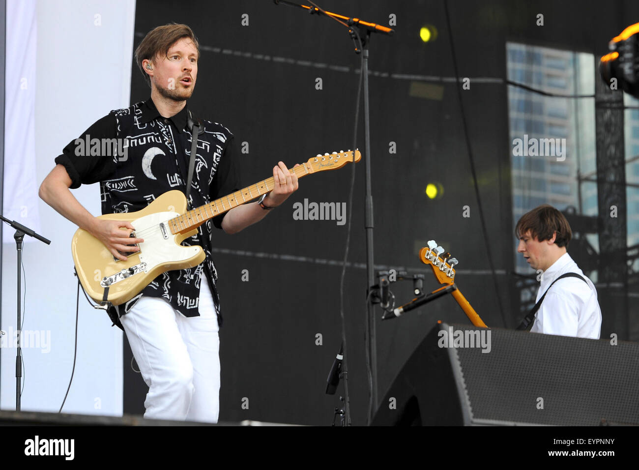 Grant Park. 01st Aug, 2015. August 01, 2015. - Djandgo Django performing live during the Lollapalooza Festival 2015 - Stock Image