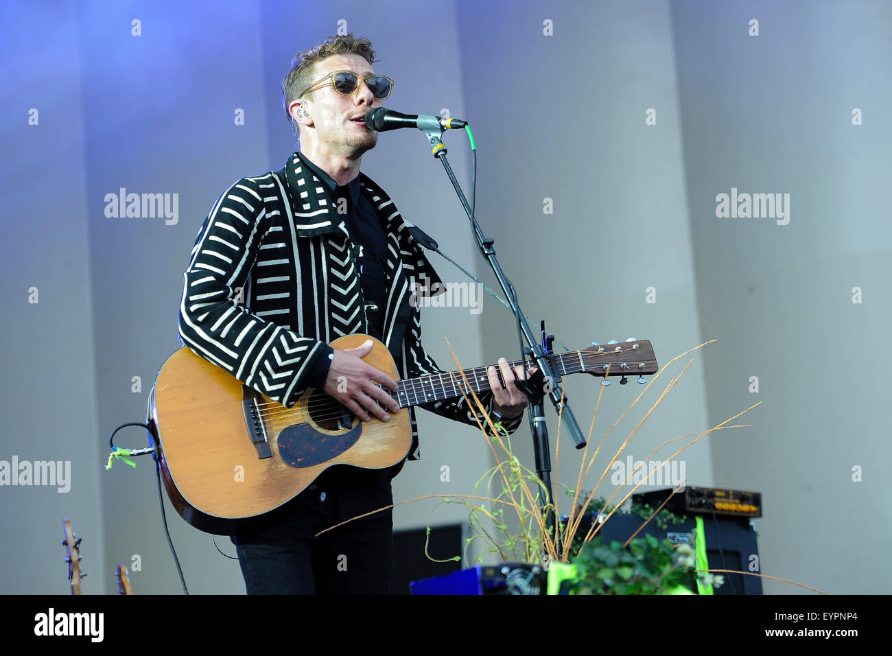 Grant Park. 01st Aug, 2015. August 01, 2015. - Givers performing live during the Lollapalooza Festival 2015 at Grant - Stock Image