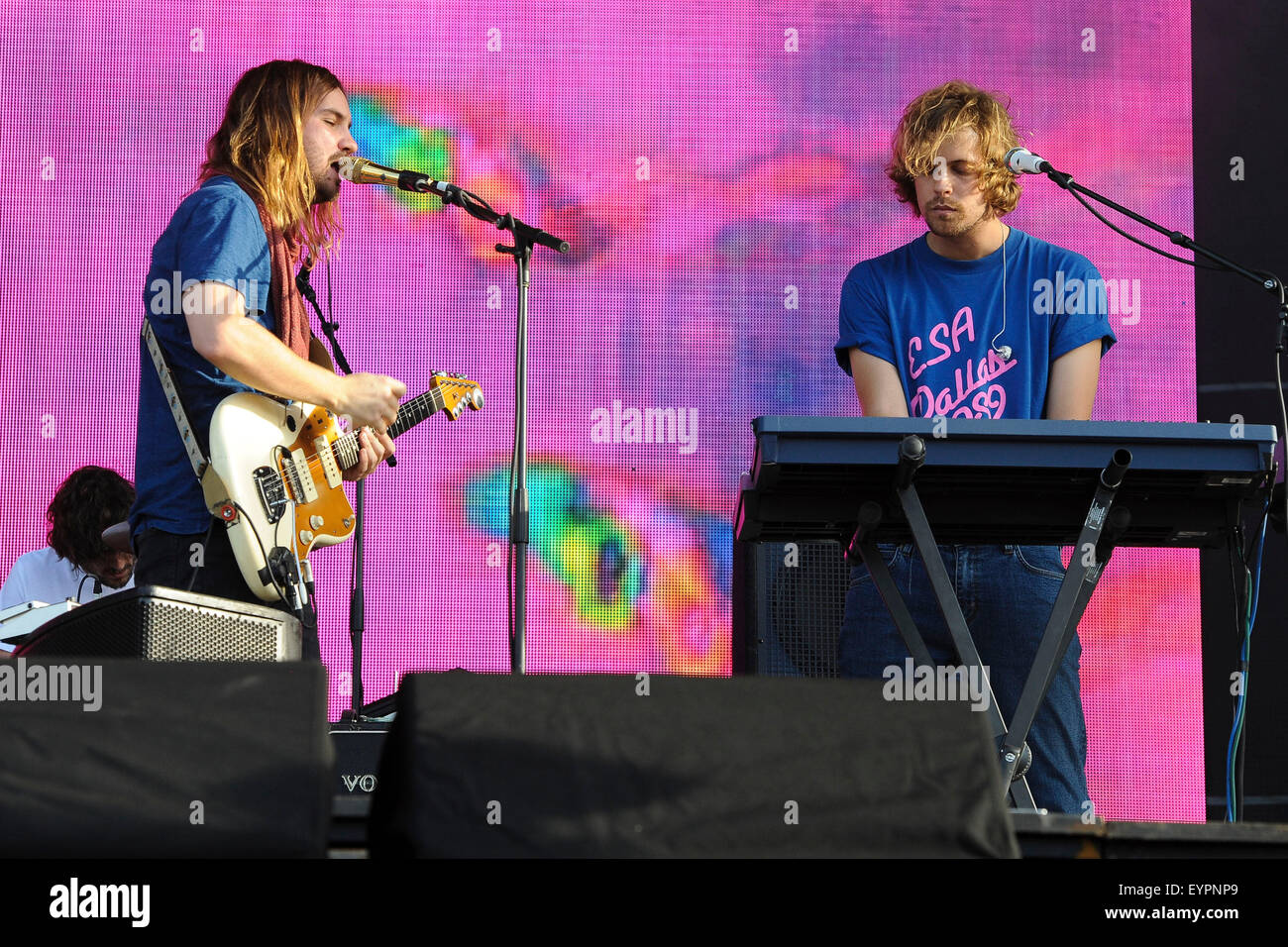 Grant Park. 01st Aug, 2015. August 01, 2015. - Tame Impala performing live during the Lollapalooza Festival 2015 - Stock Image