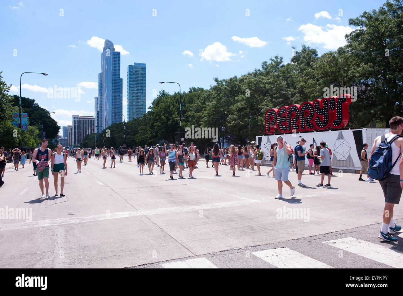 Grant Park. 01st Aug, 2015. August 01, 2015. - Lollapalooza Festival 2015 at Grant Park. Chicago, USA/picture alliance - Stock Image
