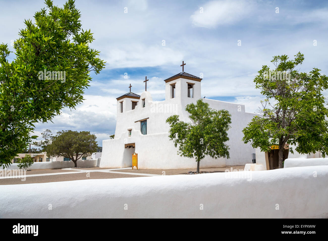 The St. Augustine Church in the Pueblo of Isleta, New Mexico, USA. - Stock Image