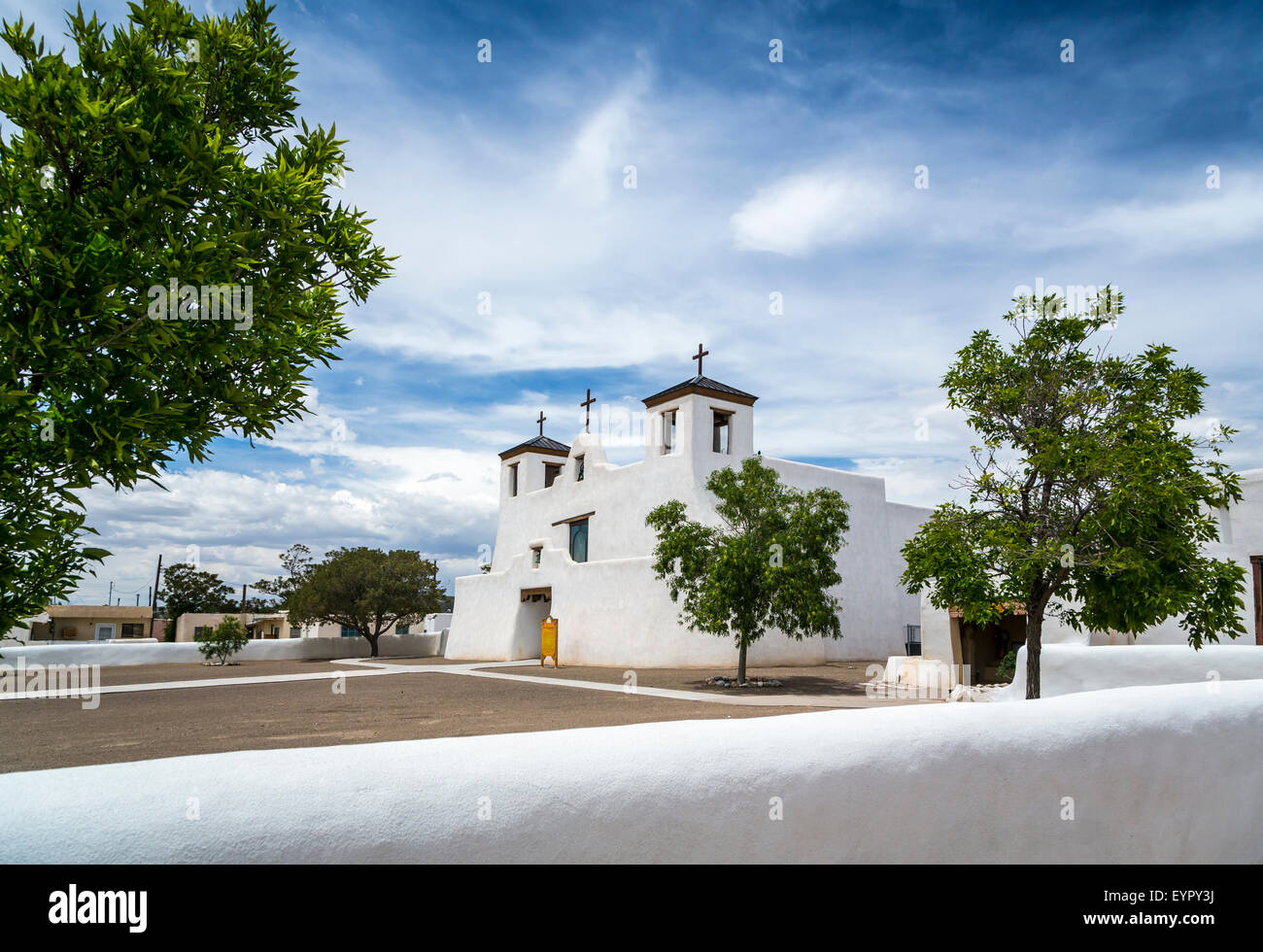 The St. Augustine Church in the Pueblo of Isleta, New Mexico, USA. Stock Photo
