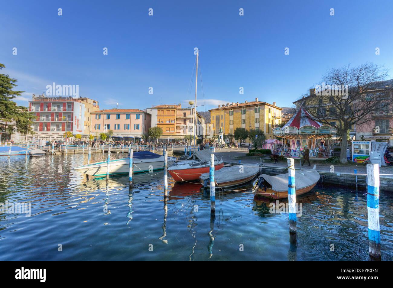 Italy, Lombardy, Iseo lake - Stock Image
