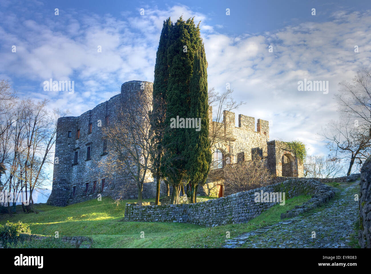 Italy, Lombardy, Iseo lake, Monte Isola, Rocca Martinengo Stock Photo