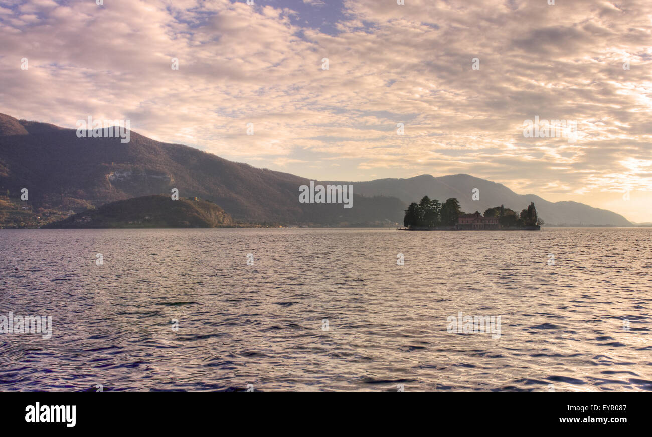 Italy, Lombardy, Iseo lake, Isola di Loreto - Stock Image