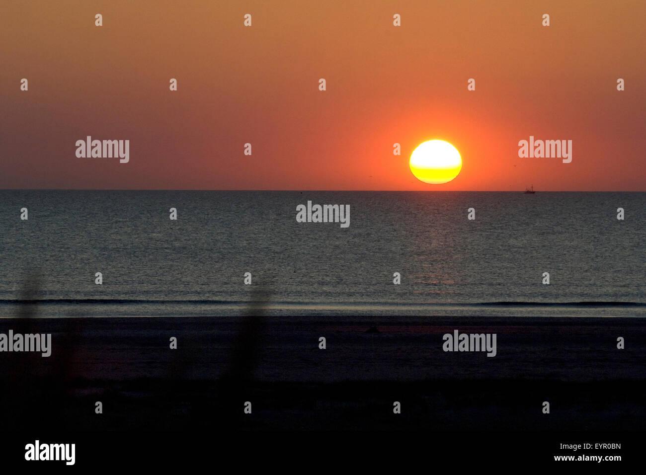 Sonnenuntergang, Abendrot, Abend; - Stock Image