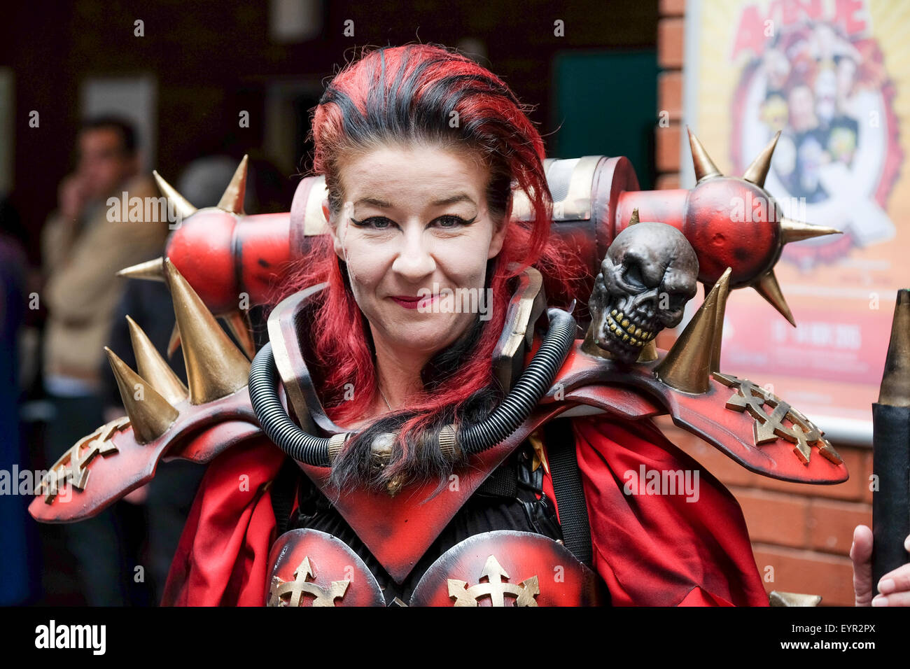 Adult Female Comic Con fan in Cosplay costume - Stock Image