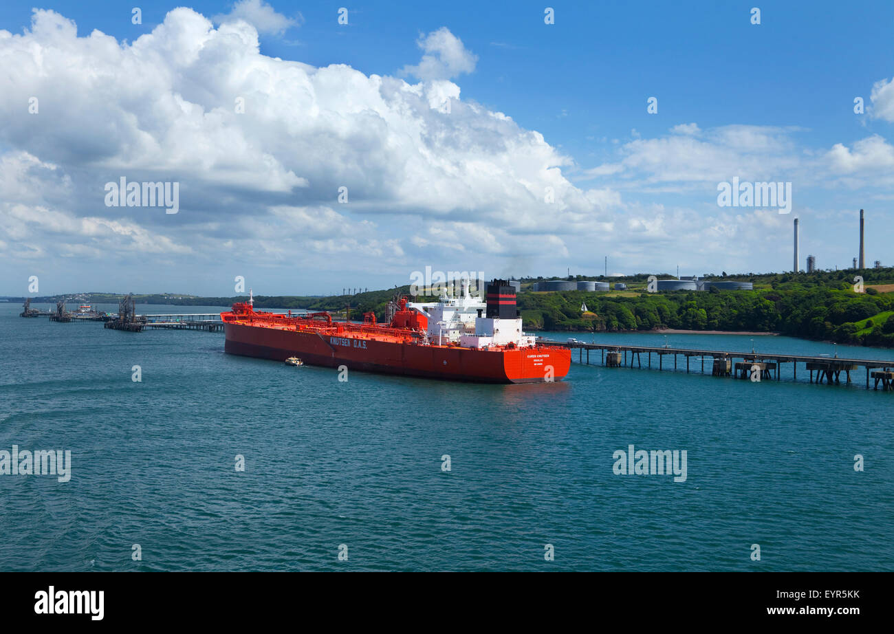 South Hook LNG Terminal, Milford Haven, Pembrokeshire, South Wales, UK Stock Photo