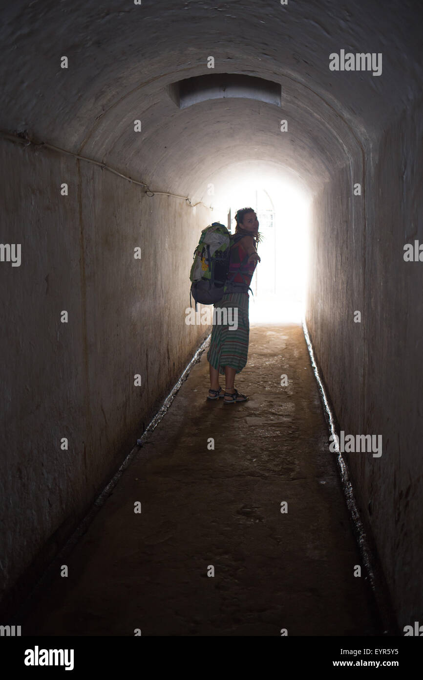 Walk into the light. - Stock Image