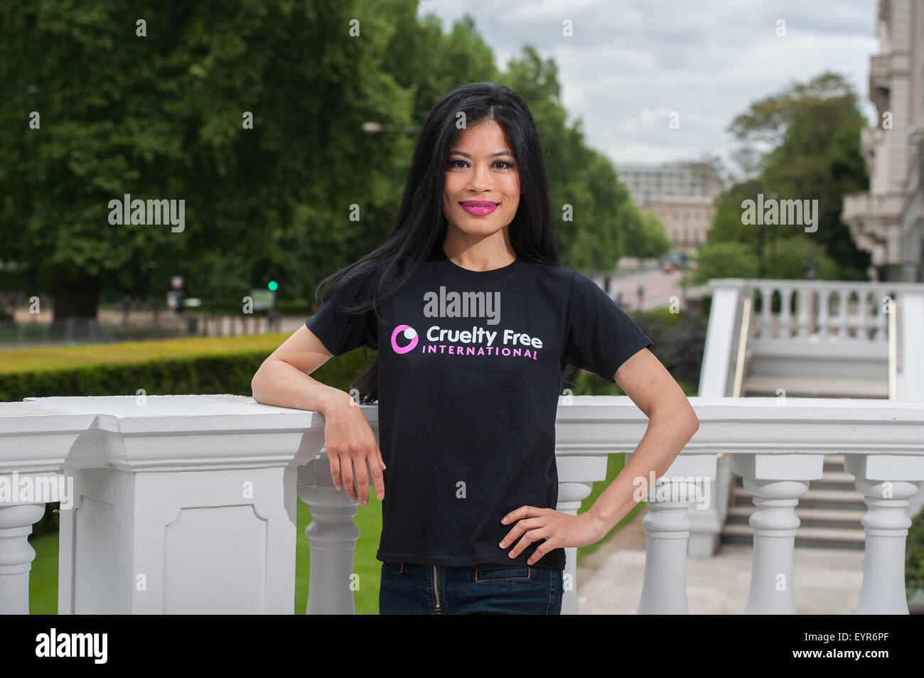 Vanessa Mae promotes Cruelty Free at the Mandarin Oriental.  Featuring: Vanessa Mae Where: London, United Kingdom Stock Photo